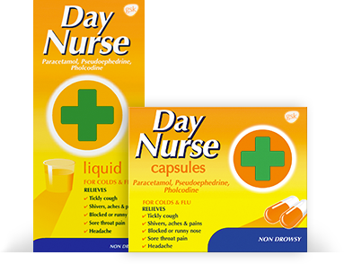 Day Nurse Liquid and Capsules