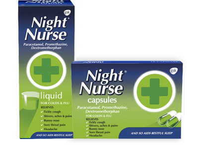 Night Nurse liquid and capsules